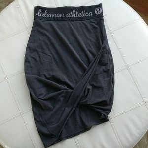 Lululemon Bodycon Jersey Drape Skirt